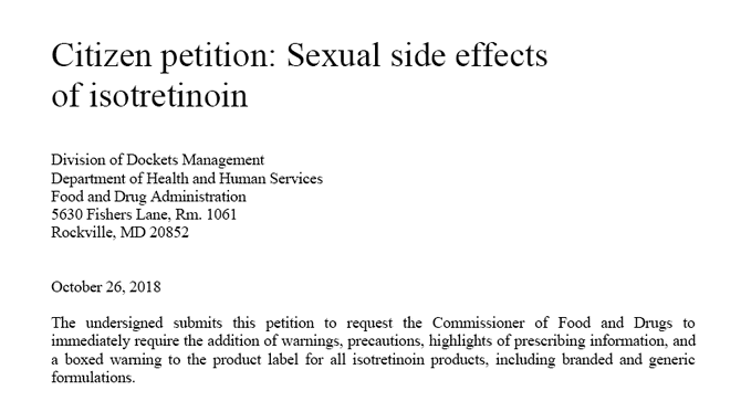 Sexual side effects accutane
